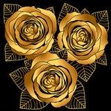 Gouden rozen Stock Foto