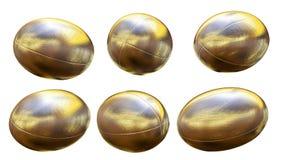 Gouden rugbybal X6 Stock Fotografie