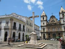 Gouden saldavor DE Bahia van kerkbrazilië royalty-vrije stock afbeelding