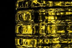 Gouden samenvatting vage achtergrond Royalty-vrije Stock Afbeelding