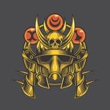 Gouden samoeraienhoofd vector illustratie