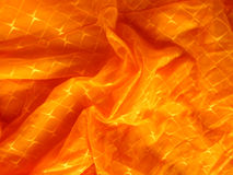 Gouden satijn, zijde, golven Stock Foto