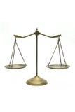 Gouden schalen van rechtvaardigheid Royalty-vrije Stock Afbeelding
