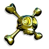 Gouden schedel Stock Foto's