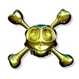 Gouden schedel Stock Afbeeldingen