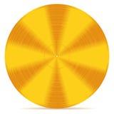 Gouden schijf vector illustratie