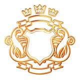 Gouden Schild Royalty-vrije Stock Foto's
