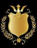 Gouden schild Royalty-vrije Stock Fotografie