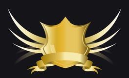 Gouden schild Royalty-vrije Stock Foto