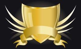 Gouden schild Stock Afbeelding