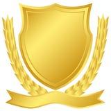 Gouden schild Royalty-vrije Stock Afbeelding