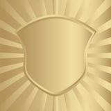 Gouden schild Stock Foto