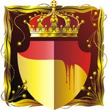 Gouden schild royalty-vrije illustratie