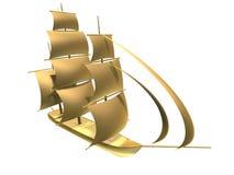 Gouden schip Stock Foto's
