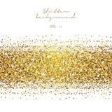 Gouden schitter abstracte achtergrond Klatergoud glanzende achtergrond Luxe gouden malplaatje Stock Afbeelding