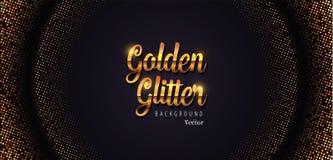 Gouden schitter Abstracte Halftone Vectorillustratie Als achtergrond stock foto's