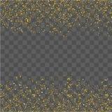 Gouden schitter confettien royalty-vrije illustratie