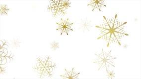 Gouden schitter de dalende klem van sneeuwvlokkenkerstmis vector illustratie