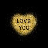 Gouden schitter hart vector illustratie