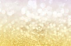 Gouden schitter Kerstmis 2016 Stock Afbeelding
