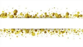Gouden schitter om deeltjes videoanimatie royalty-vrije illustratie
