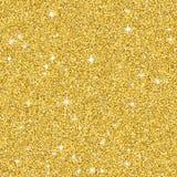 Gouden schitter patroontextuur met ster Abstracte achtergrond gloeiende premiebanner Stock Foto