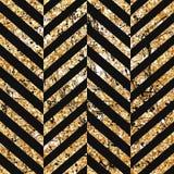 Gouden schitterend diagonaal lijnenpatroon op zwarte achtergrond Klassiek Patroon Vector ontwerp Royalty-vrije Stock Foto's