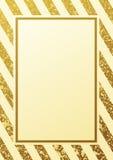 Gouden schitterend naadloos lijnenpatroon op witte achtergrond stock illustratie