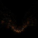 Gouden schitterend sterlicht en bokeh Magische stof abstracte backgro vector illustratie