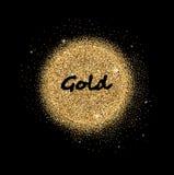 Gouden schitterende cirkel Stock Afbeeldingen