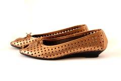 Gouden schoenen Royalty-vrije Stock Afbeelding