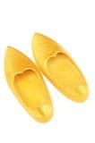 Gouden schoenen Royalty-vrije Stock Afbeeldingen