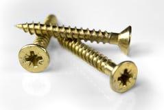 Gouden schroeven Royalty-vrije Stock Fotografie