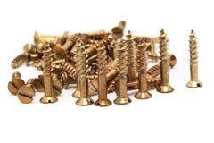 Gouden schroeven in een heup Royalty-vrije Stock Afbeeldingen
