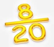 Gouden score van acht van de illustratie twintig stock illustratie