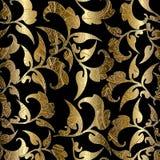 Gouden sier barokke rolornamenten Royalty-vrije Stock Afbeelding