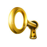 Gouden sleutel Royalty-vrije Stock Foto