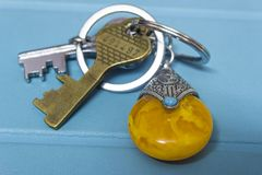 Gouden Sleutel FOB royalty-vrije stock foto