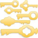 Gouden sleutels Stock Afbeelding