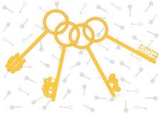 Gouden sleutels van het leven Royalty-vrije Stock Afbeelding