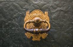 Gouden slot stock afbeelding