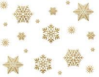 Gouden sneeuw Stock Afbeeldingen