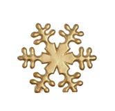 Gouden sneeuwvlok Stock Fotografie