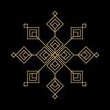 Gouden sneeuwvlok Royalty-vrije Stock Afbeeldingen