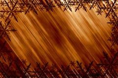 Gouden sneeuwvlokken Stock Foto