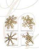 Gouden sneeuwvlokken Royalty-vrije Stock Afbeelding