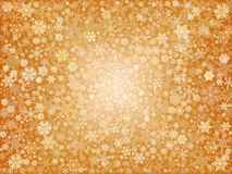Gouden sneeuwvlokken Stock Afbeelding