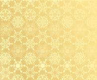Gouden sneeuwvlokpatroon Stock Afbeeldingen