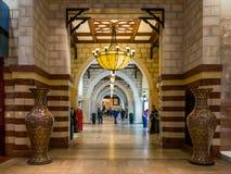 Gouden Souq-ingang in de Wandelgalerij van Doubai in Doubai Van de binnenstad royalty-vrije stock fotografie