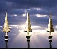 Gouden spear Stock Fotografie